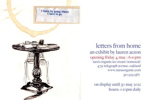 letters from home an exhibit by lauren azcon